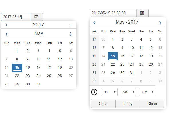 New Datepicker for Joomla! 3 7
