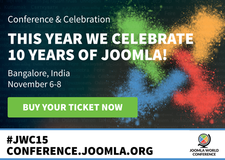 Joomla! World Conference 2015, Sheraton Bangalore, India November 6-8