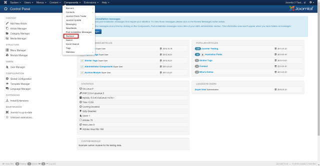 Redirect Manager dalla ver 1.6 di Joomla