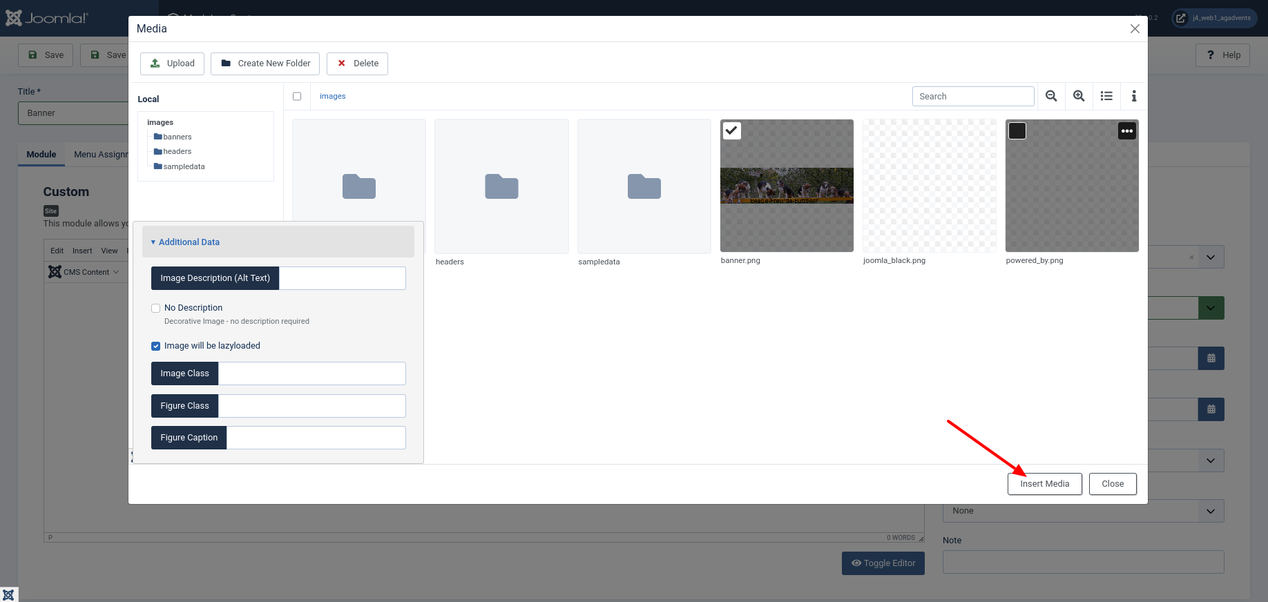 Select Module Custom Image