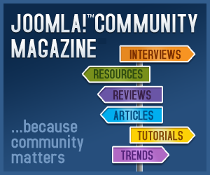 Joomla! Community Magazine banner at 300x250