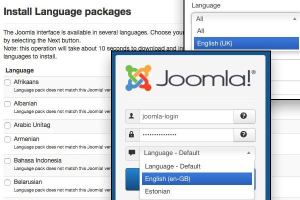 на Joomla язык