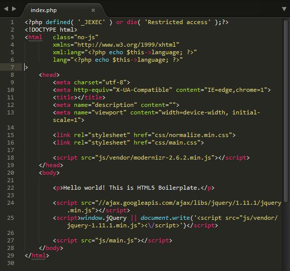 Cómo crear una plantilla front-end para Joomla! desde cero (parte 3)