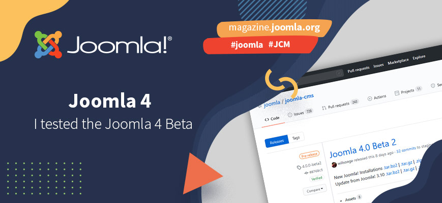 My experience with the Beta of Joomla! 4