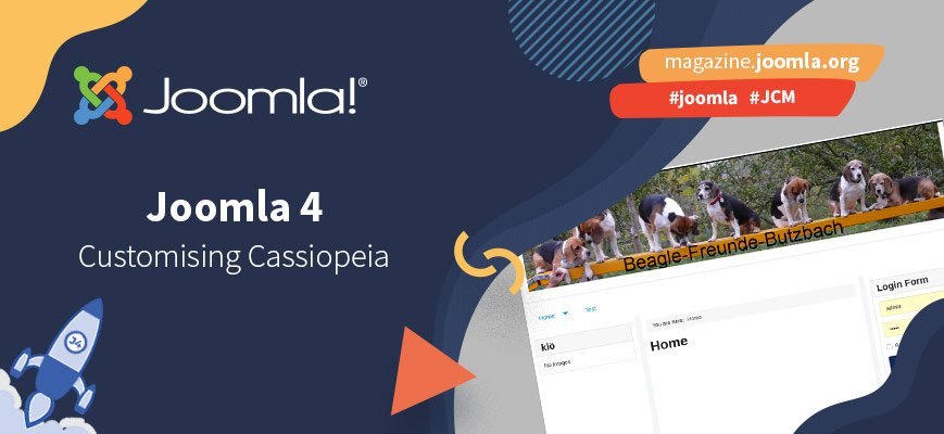 Joomla 4: Tweak Cassiopeia with a top banner and horizontal navigation