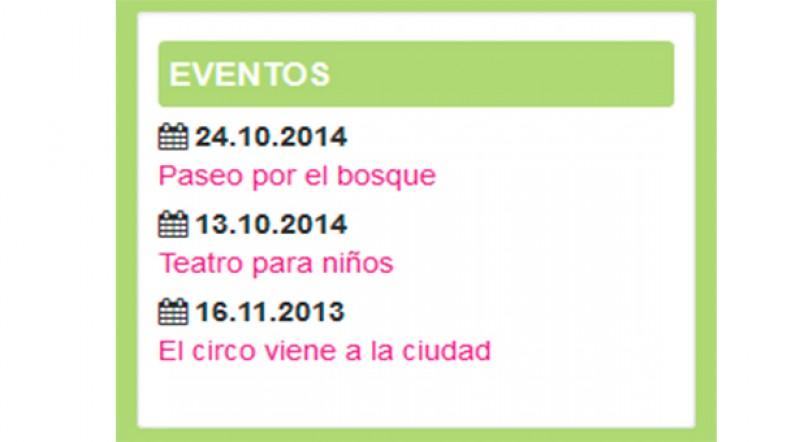 Joomla! Overrides – Calendario de eventos