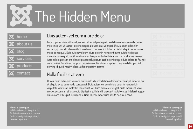 Using Hidden Menus