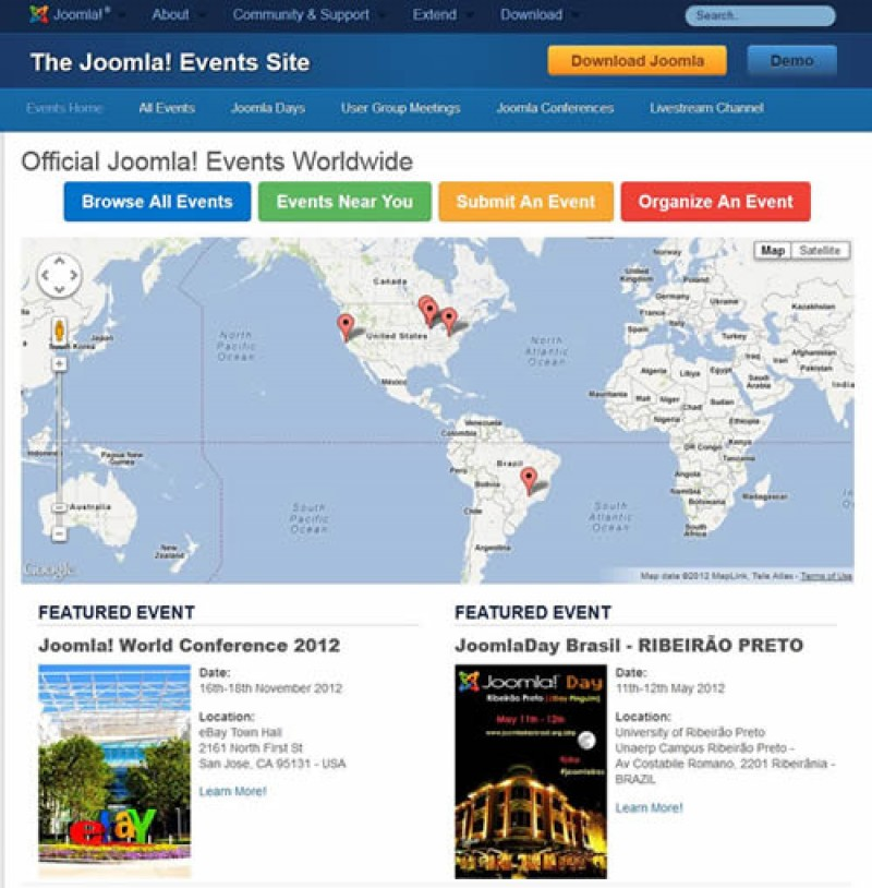 Joomla Events Website Launch