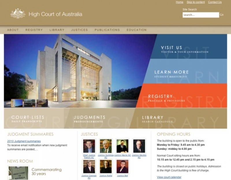 Website Case Study: High Court of Australia Case Study