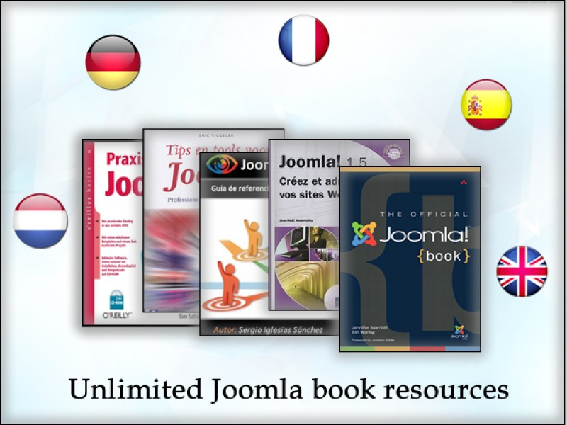 Unlimited Joomla book resources in multiple languages