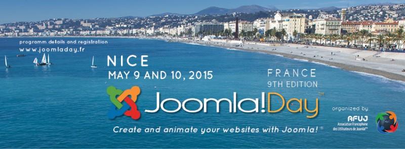 JoomlaDay Nice France 2015, au bord de la méditerranée