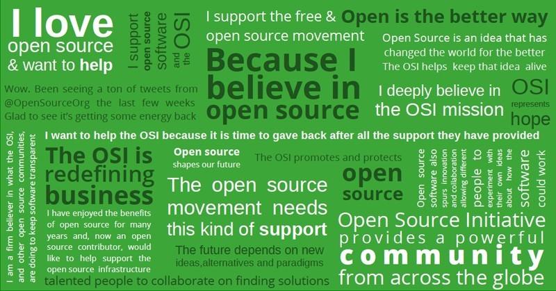Campagne d'adhésion à Open Source Initiative