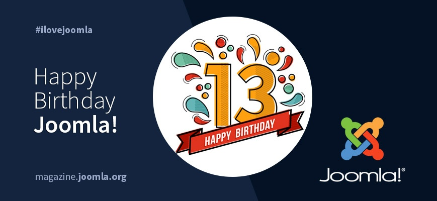 A Lucky 13th Birthday to Joomla!