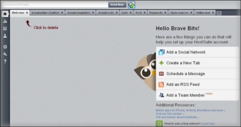 Take full control of your Twitter profile with Hootsuite Dashboard