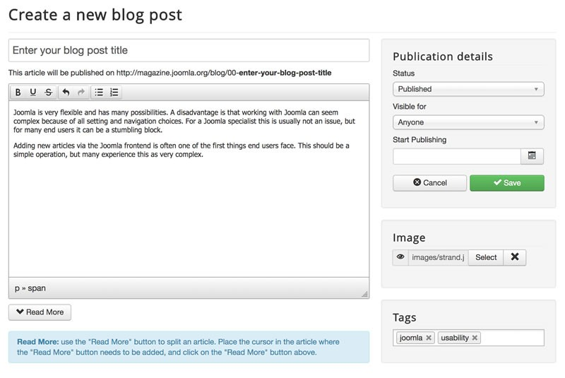 Creating an Article in Joomla! Has Never Been This Easy!