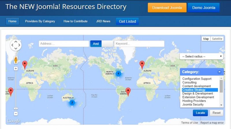 Un nuevo y mejorado directorio de recursos Joomla!