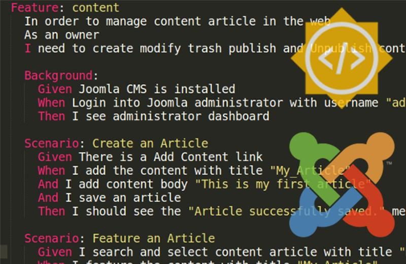 How to make Joomla CMS tests Better with Gherkin and Codeception?