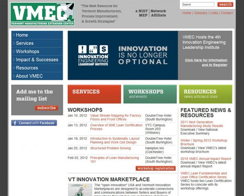 Website Case Study: Vermont Manufacturing Extension Center
