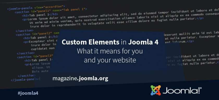 Joomla 4 - Custom Elements