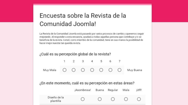 Encuesta JCM 2016: estamos escuchando a la comunidad
