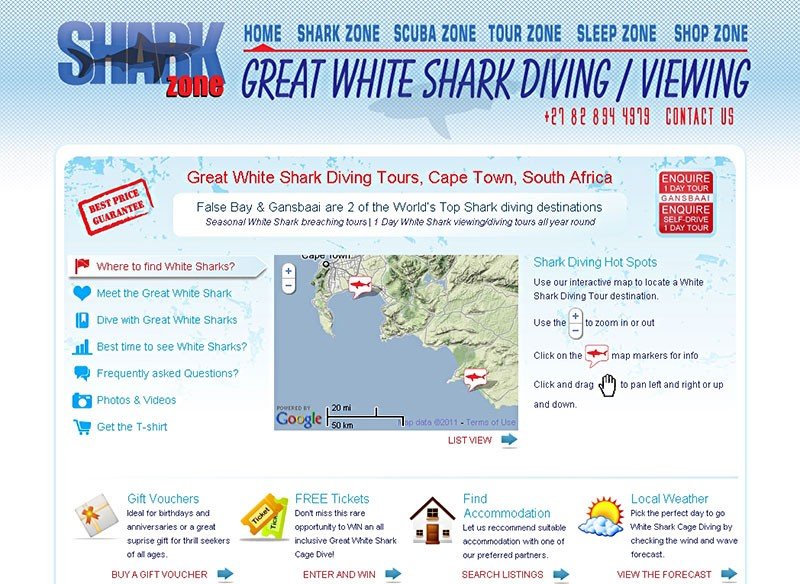 Website Case Study: Shark Zone