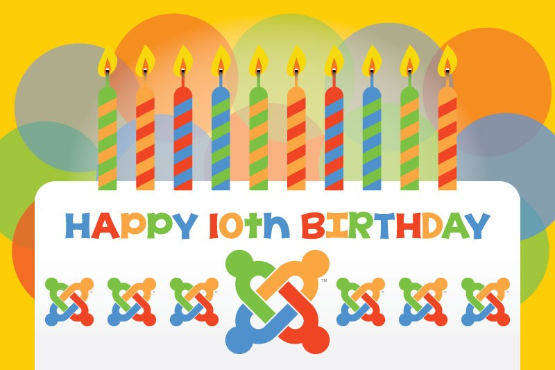 Happy 10th Birthday Joomla!
