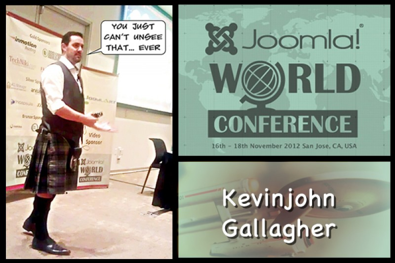 Kevinjohn Gallagher at the JWC12: Blunt, but Kilted.