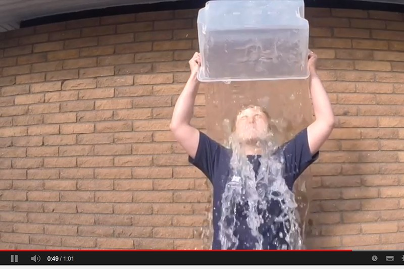 Yes! I accepted the #IceBucketChallenge :)