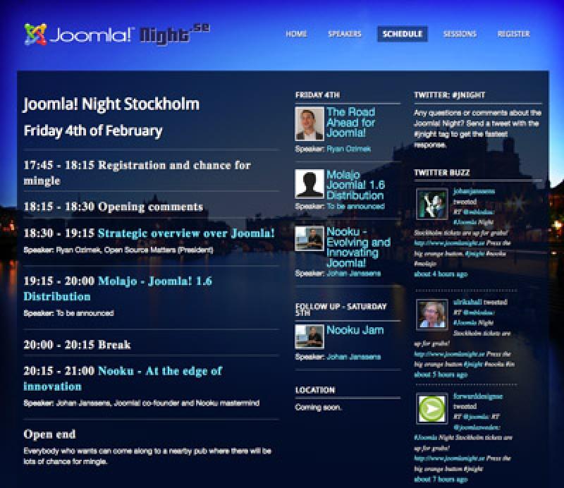 Joomla!® Night Stockholm