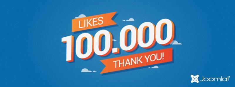 Joomla! Facebook Page Hits 100,000 Fans