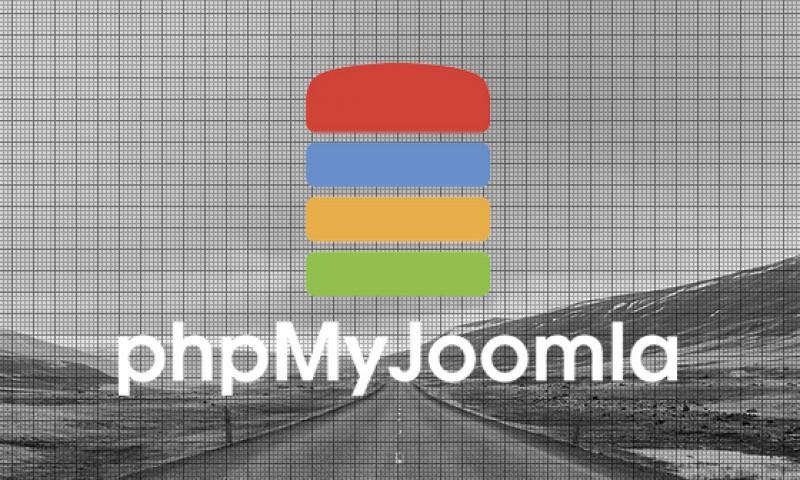 Componente phpMyJoomla gestión de base de datos