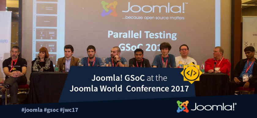 GSoC at the Joomla World Conference 2017