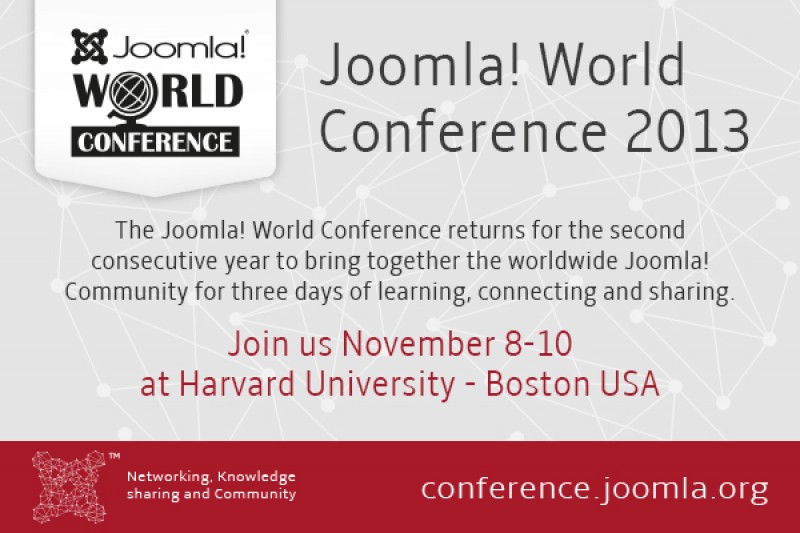 Joomla! World Conference 2013, Get Your Tickets Now!