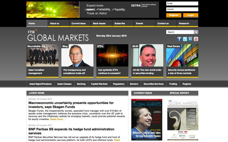 Website Case Study: FTSE Global Markets