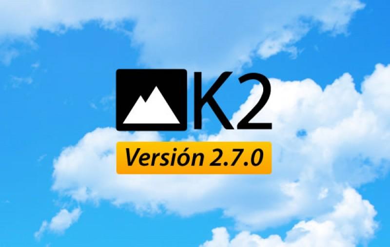 K2, nueva versión