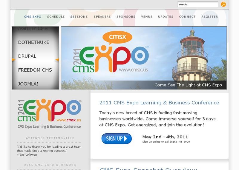 Website Case Study: Joomla! Powers the CMS Expo