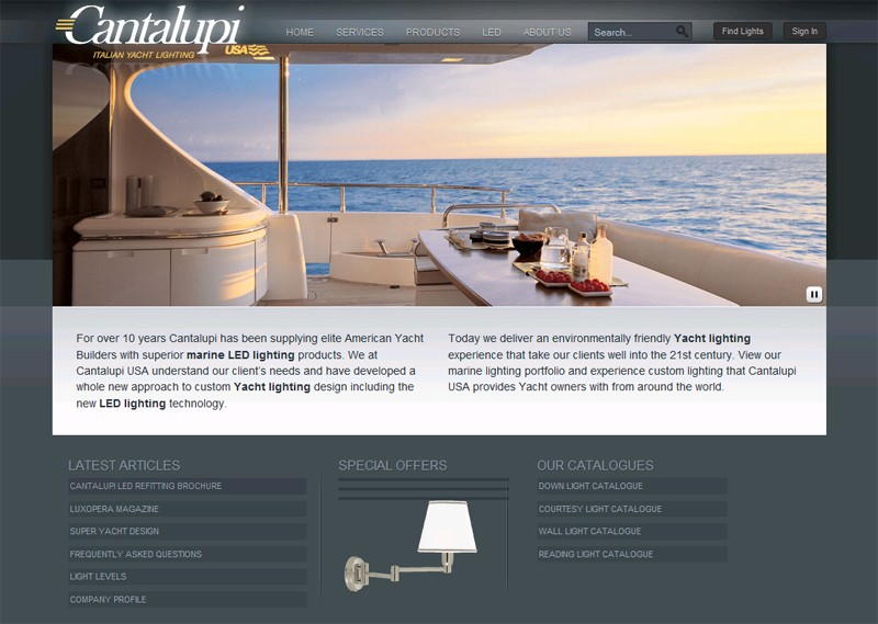 Website Case Study: Cantalupi Lighting