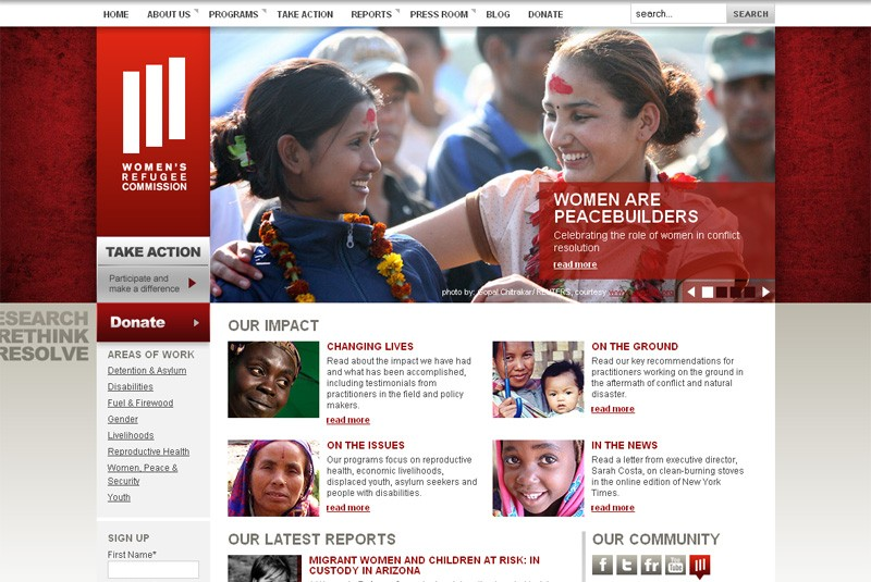 Website Case Study: Women's Refugee Commission
