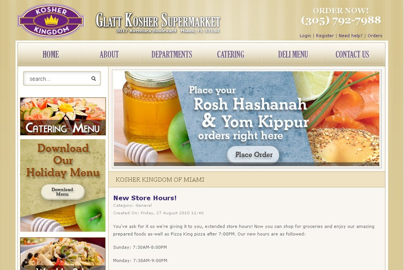 Website Case Study: Kosher Kingdom