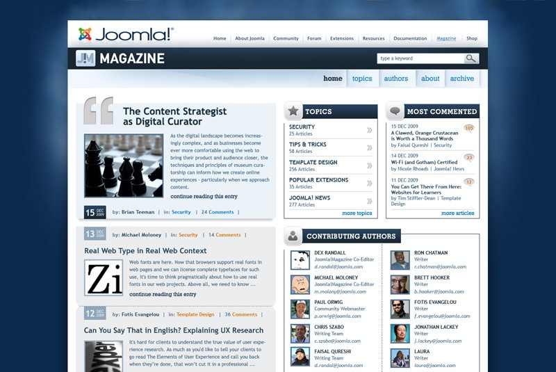 Website Case Study: Joomla! Community Magazine