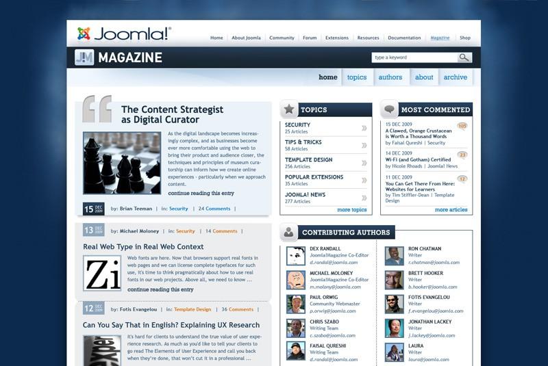 Website Case Study: Joomla! Community Magazine