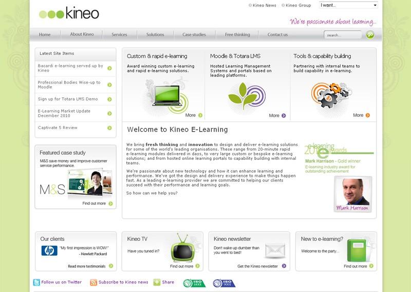 Website Case Study: Kineo E-Learning