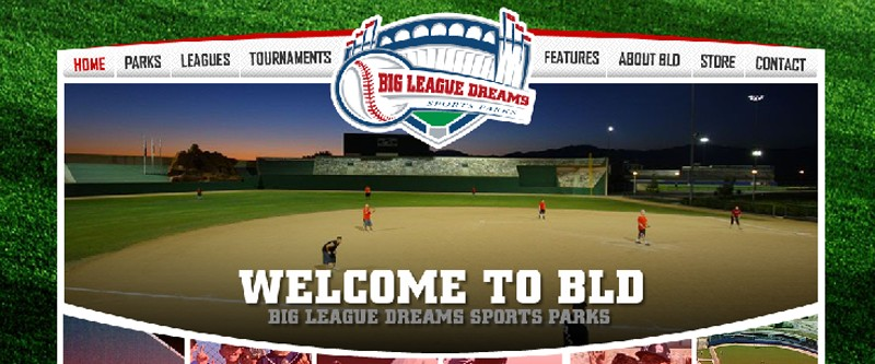Website Case Study: Big League Dreams