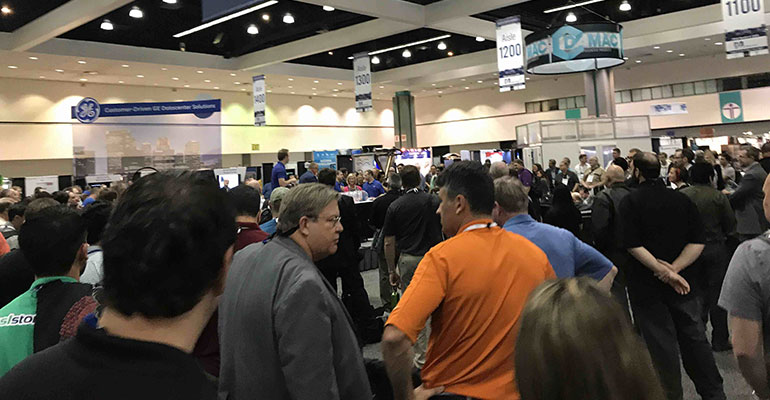 HostingCon 2017 Expo hall in action