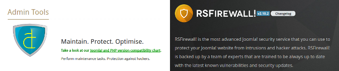 Admin Tools and RS Firewall