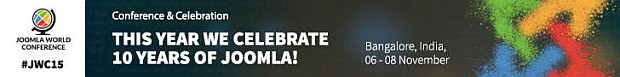 4th Joomla World Conference, later this year in Bangalore India