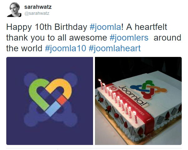 Sarah Watz shares joomlaheart and birthday cake