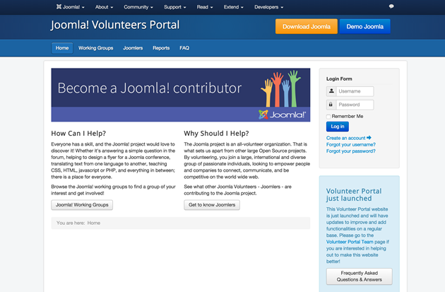 joomla-volunteers-portal
