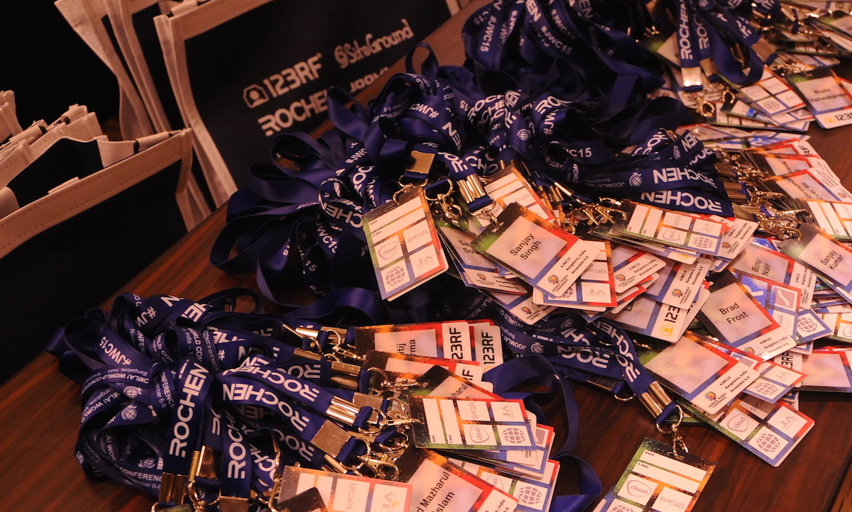 lanyards Joomla World Conference 2015