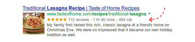 Google Rich Snippets SERP example
